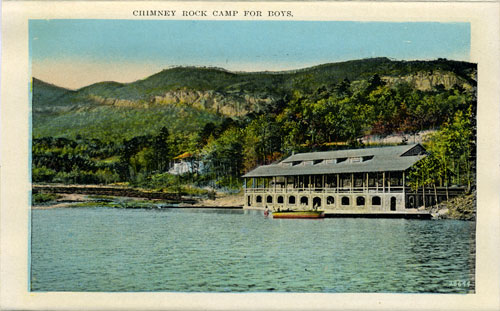 Postcard of Chimney Rock Camp