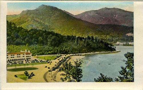 Postcard of Lake Lure Inn