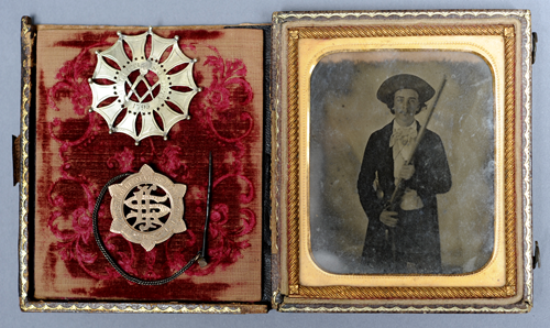 ambrotype, medal, pin