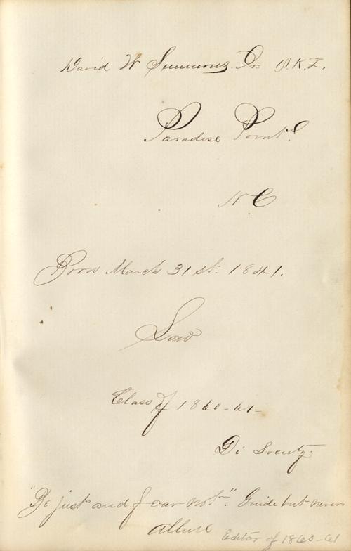 autograph page