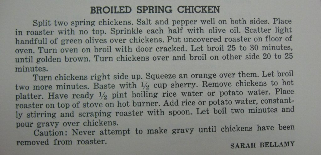 Broiled Spring Chicken - Favorite Recipes of the Lower Cape Fear