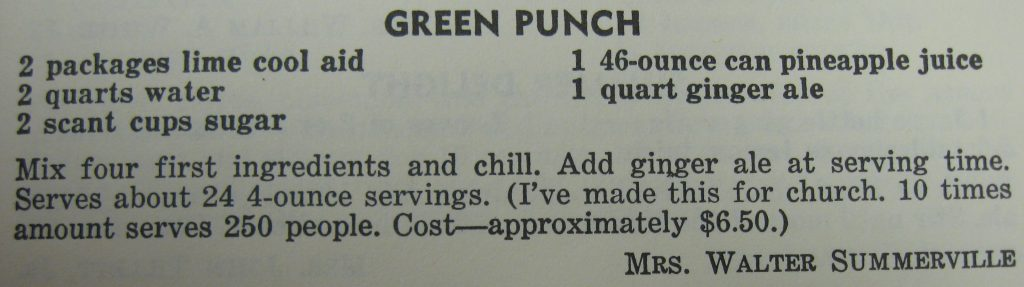 Green Punch - The Charlotte Cookbook