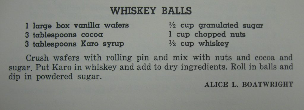 Whiskey Balls - Favorite Recipes of the Lower Cape Fear
