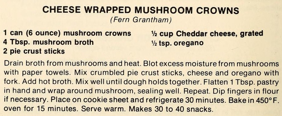 Cheese Wrapped Mushroom Crowns-The Pantry Shelf