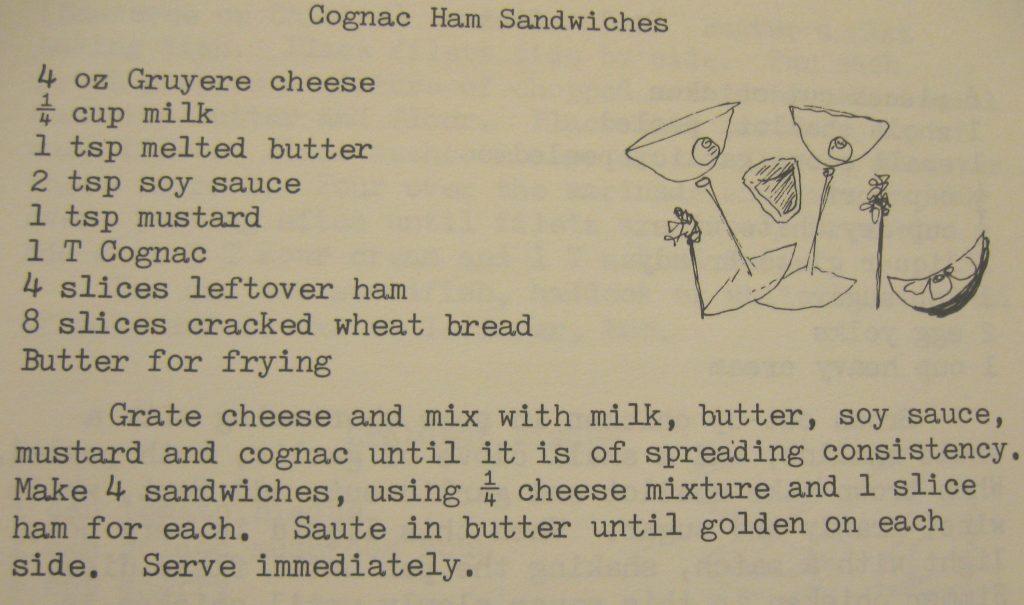 Cognac ham sandwiches - What's Left is Right