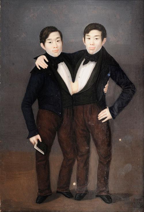 Chang and Eng engraving