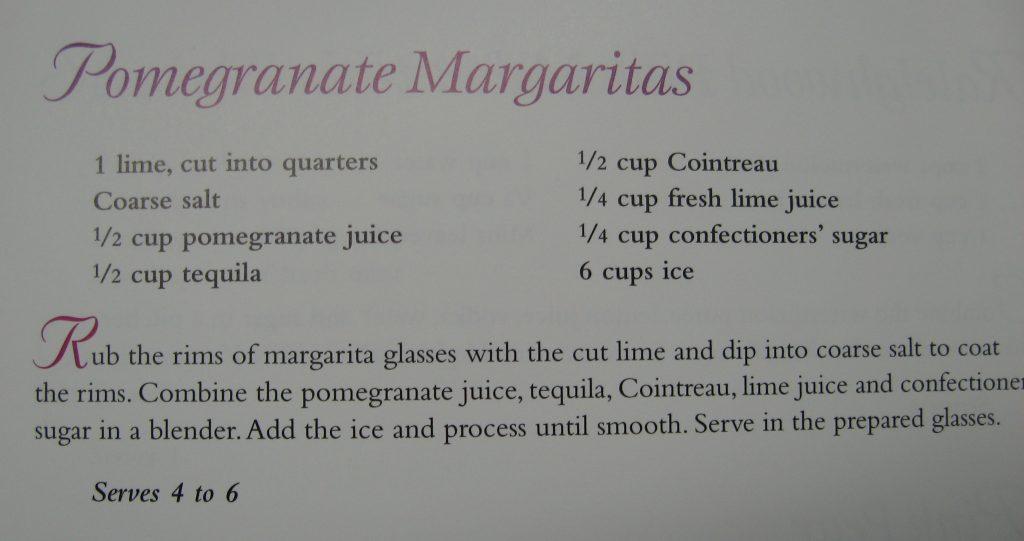 Pomergranate Margaritas - You're Invited Back