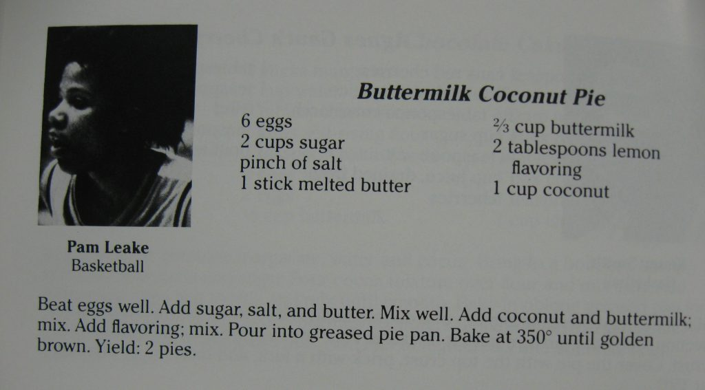 USED Buttermilk Coconut Pie - Tarheels Cooking for Ronald's Kids