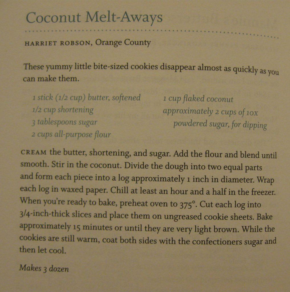 USED Coconut Melt-Aways - Sweet Carolina