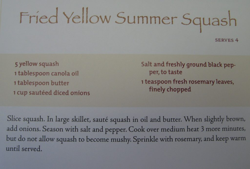 Fried Yellow Summer Squash-Hallelujah! The Welcome Table
