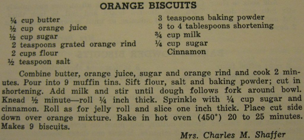 Orange biscuits - Carolina Cooking