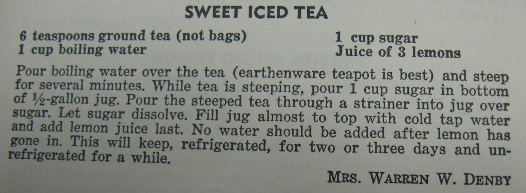 Sweet Iced Tea - The Charlotte Cookbook
