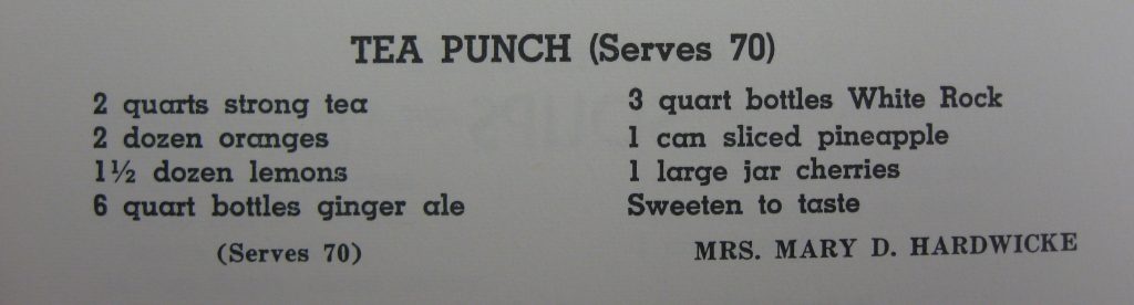 Tea Punch (Serves 70) - Favorite Recipes of the Lower Cape Fear