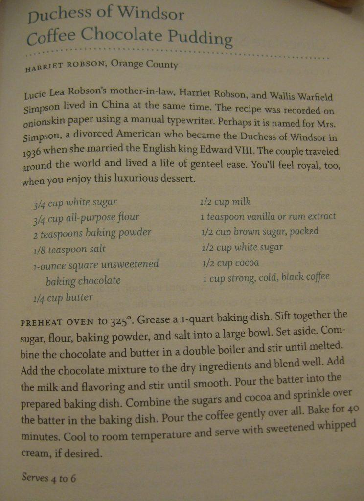 Duchess of Windsor Coffee Chocolate Pudding - Sweet Carolina