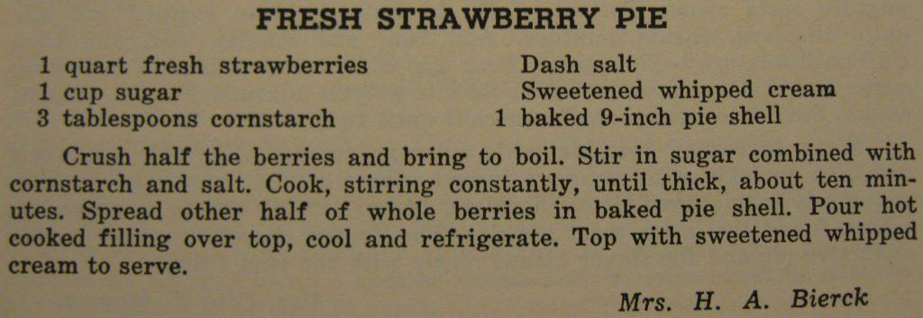 Fresh strawberry pie - Carolina Cooking
