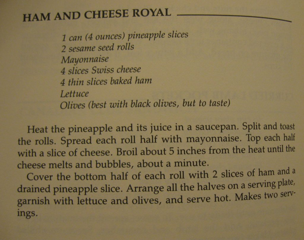 Ham and Cheese Royal - Love Yourself Cookbook