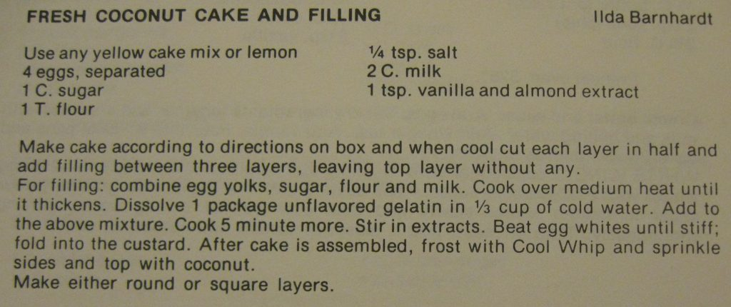 fresh coconut cake and filling - What's Cook'n at Biltmore