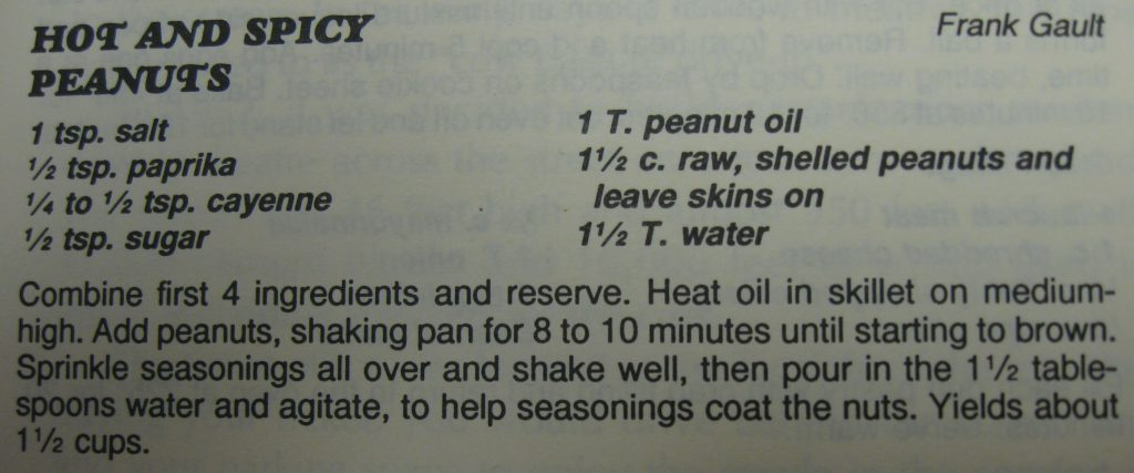 Hot and Spicy Peanuts - Columbus County Cookbook II