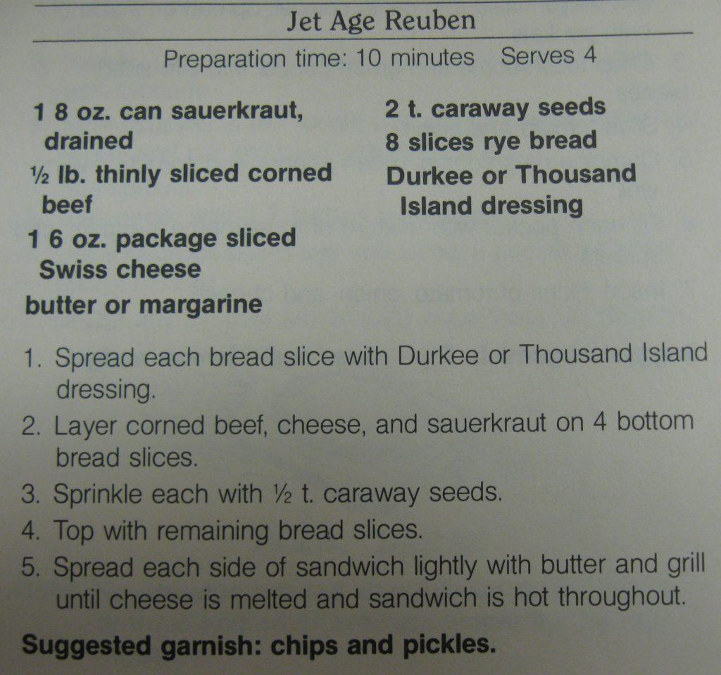 Jet Age Reuben-Rush Hour Superchef!