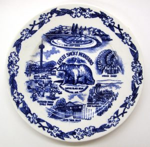 Great Smoky Mountains commemorative plate