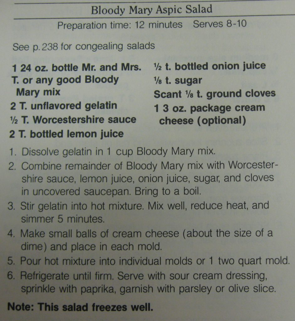 Bloody Mary Aspic Salad-Rush Hour Superchef!