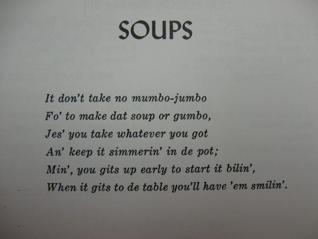 Soups Poem - Favorite Recipes of the Lower Cape Fear
