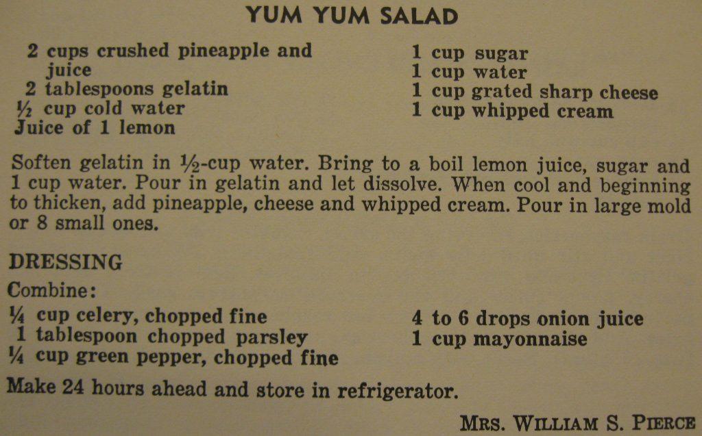 Yum yum salad - The Charlotte Cookbook