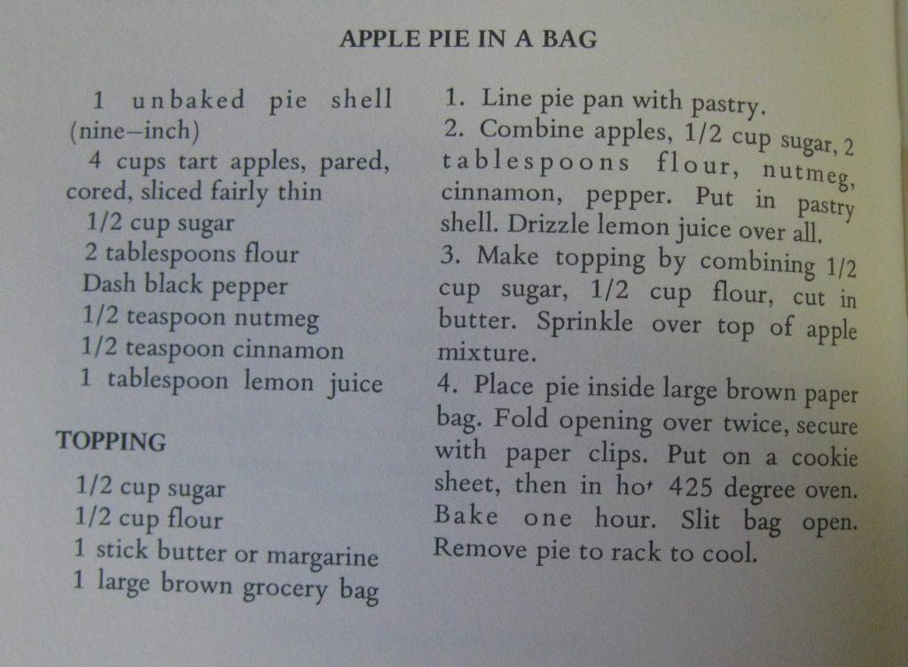 Apple Pie in a Bag - The Clockwatcher's Cookbook