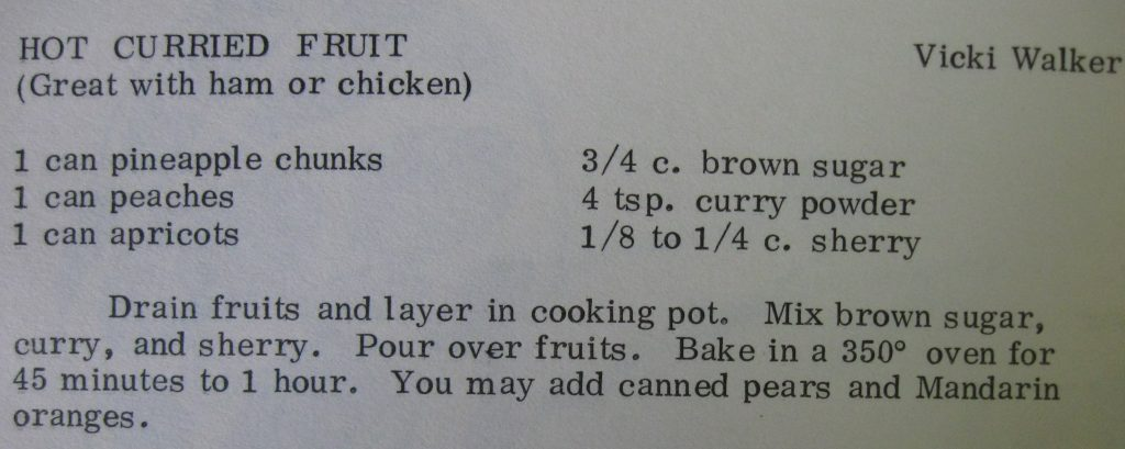 Hot curried fruit - Good Eatin' from Duke Memorial