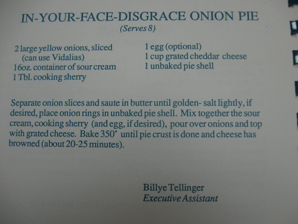 In-Your-Face-Disgrace Onion Pie - Hornets Homecooking