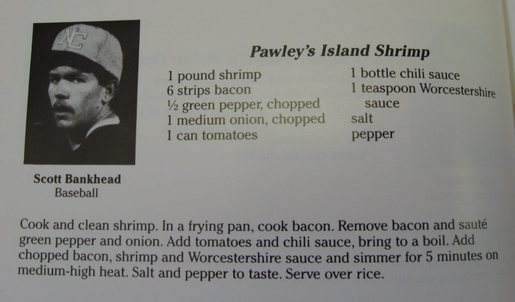 Scott Bankhead's (Olympian) Pawley's Island Shrimp-Tarheels Cooking for Ronald's Kids
