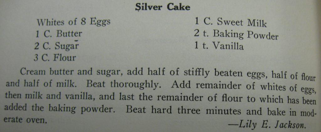 USE Silver cake - Tea Kettle Talk