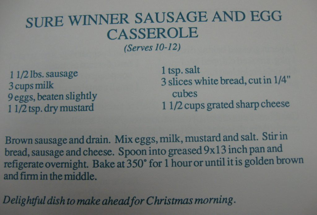 USE Sure Winner Sausage and Egg Casserole - Hornets Homecooking