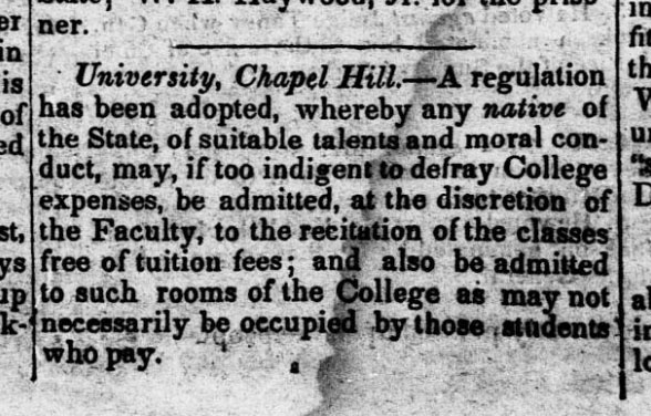 Clipping from the North-Carolina Standard, 1836
