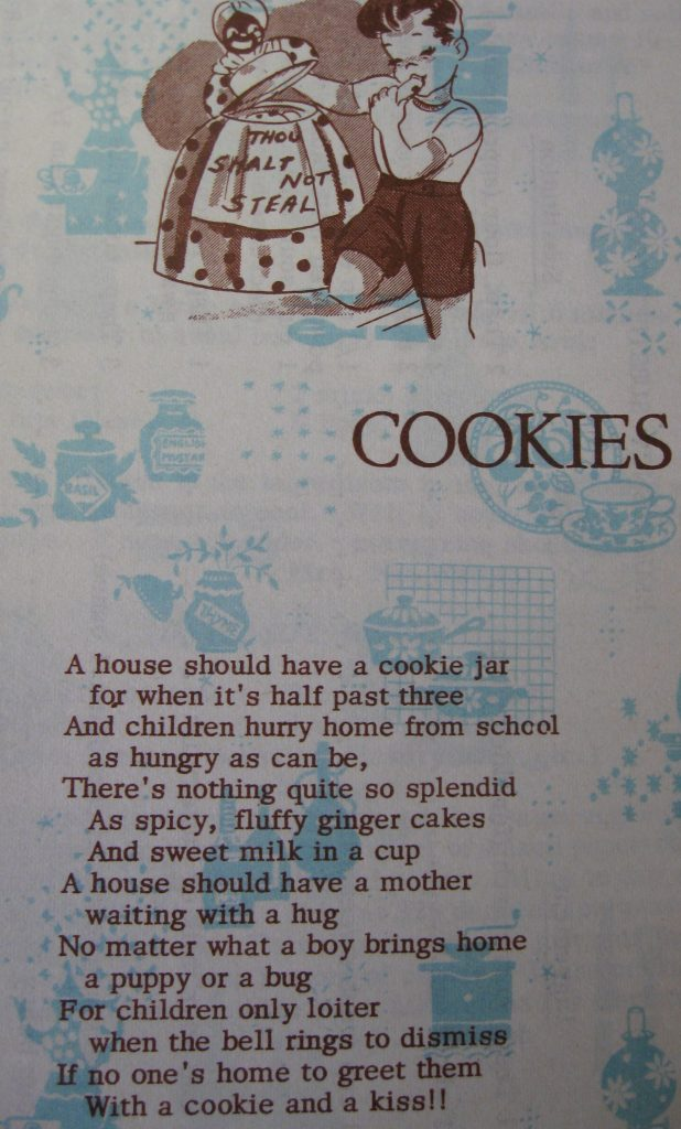 Cookies poem - Favorite Recipes of Women's Fellowship of the United Church