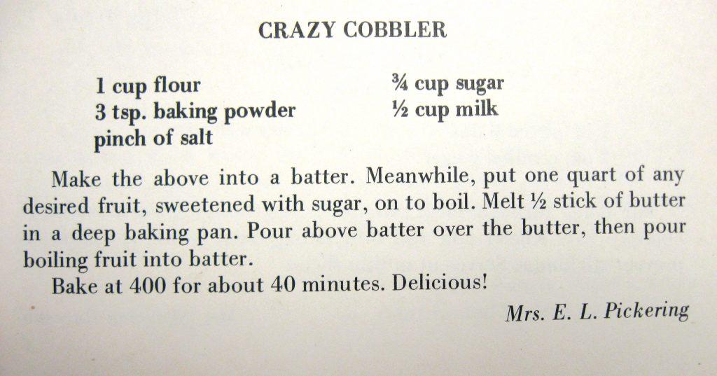 Crazy Cobbler - High Hampton Hospitality