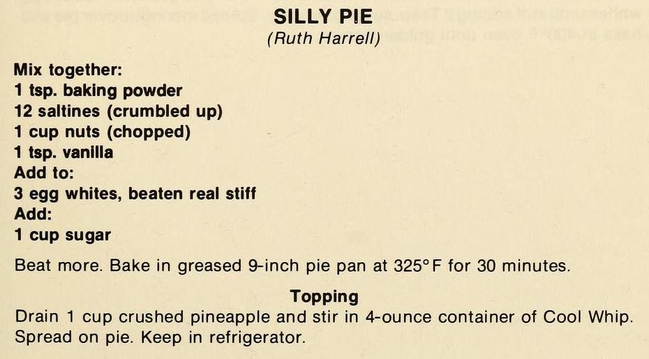 Silly Pie-The Pantry Shelf