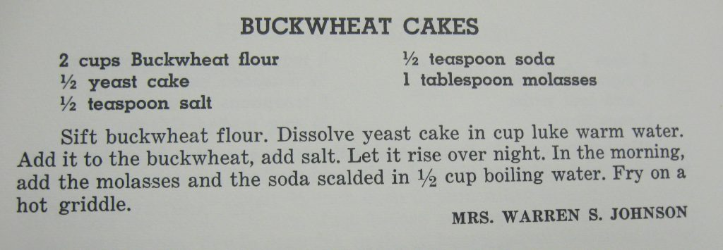 USE Buckwheat Cakes - Favorite Recipse of the Lower Cape Fear