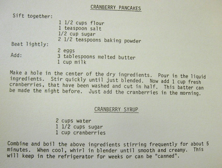 USE Cranberry Pancakes and Syrup-Our Own Kitchen Survival Kit