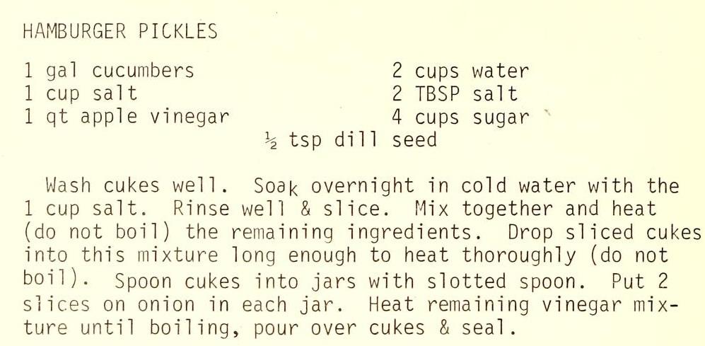 Hamburger Pickles-Recipes We Love to Cook