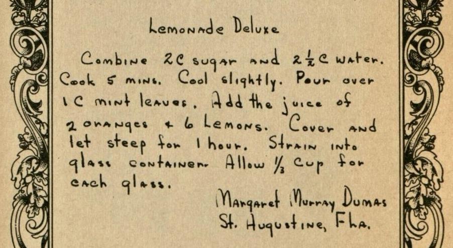 Lemonade Deluxe - Cook Book