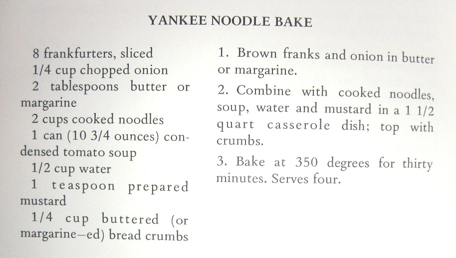 Yankee Noodle Bake-The Clockwatcher's Cookbook