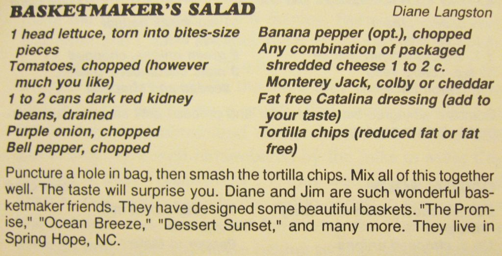 basketmaker's salad - Columbus County Cookbook II