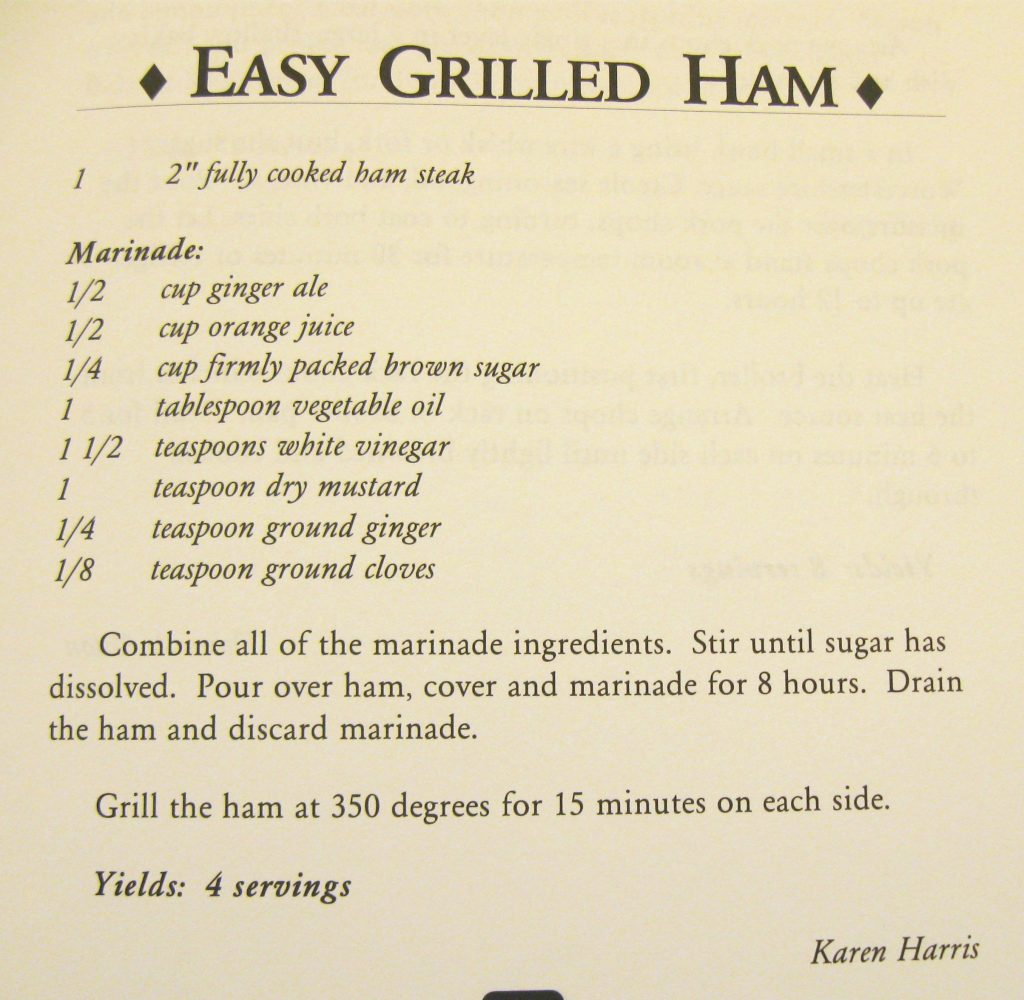 Easy Grilled Ham - Granny's Drawers