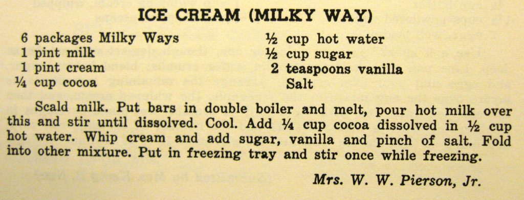 Ice Cream (Milky Way) - Carolina Cooking