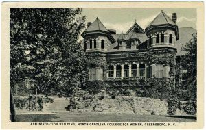 Postcard of UNC-Greensboro Administration Building