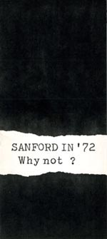 Sanford for President 1972 campaign brochure