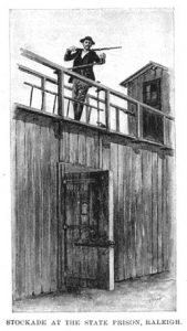 Stockade at the State Prison, Raleigh from Harper's New Monthly Magazine, January 1895