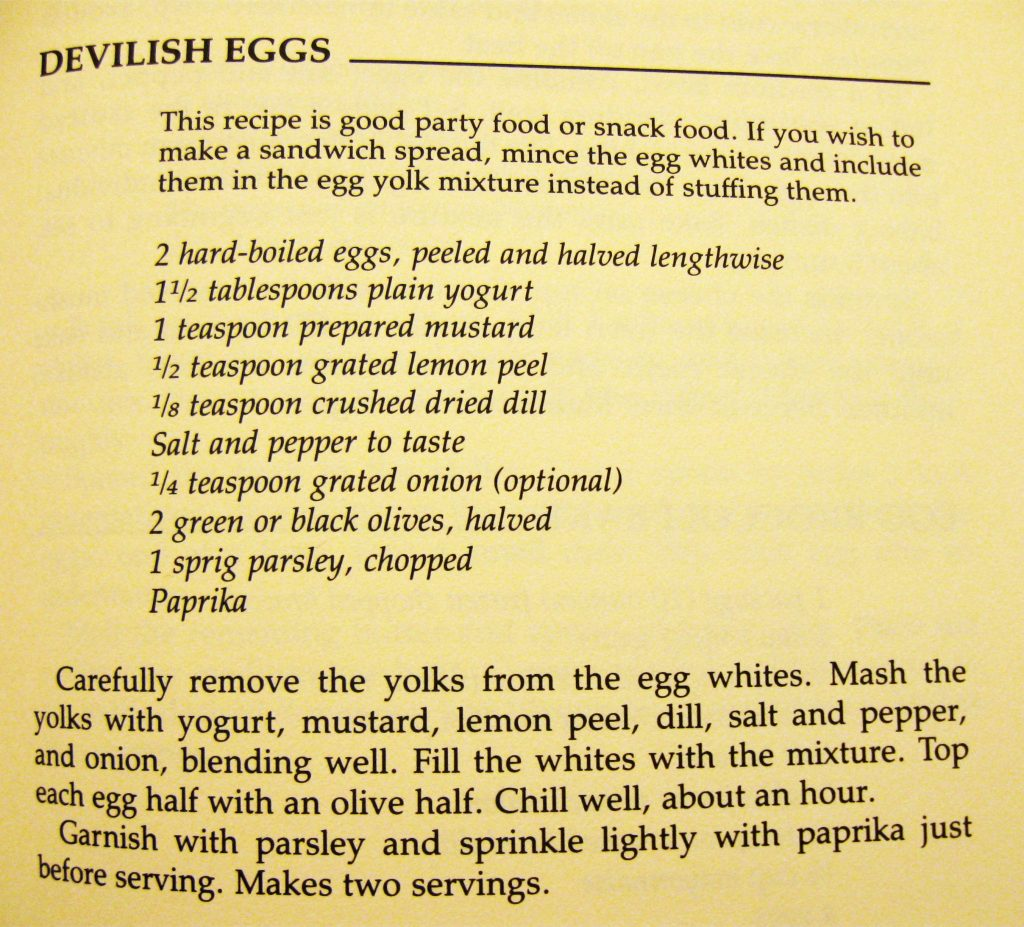 Devilish Eggs - Love Yourself Cookbook