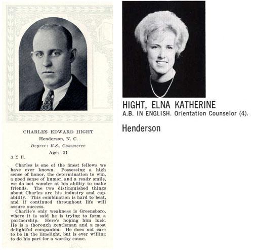 Charles & Elna Hight